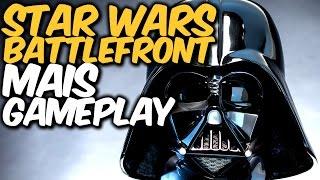 STAR WARS:  BATTLEFRONT - Gameplay com LUKE, DARTH VADER e BOBA FETT
