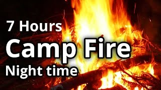 Virtual Campfire Video - Fire in the Woods - Meditation, Sleep Sounds - 7 Hours HD
