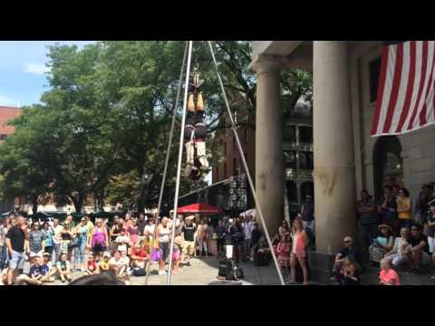 Things To Do Quincy Market-Faneuil Hall Boston: Escape Artist Street Performance