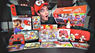 *SIGNED BY REGGIE* ULTIMATE Super Mario Odyssey Unboxing!! (Amiibo, Guide, Controller, etc)