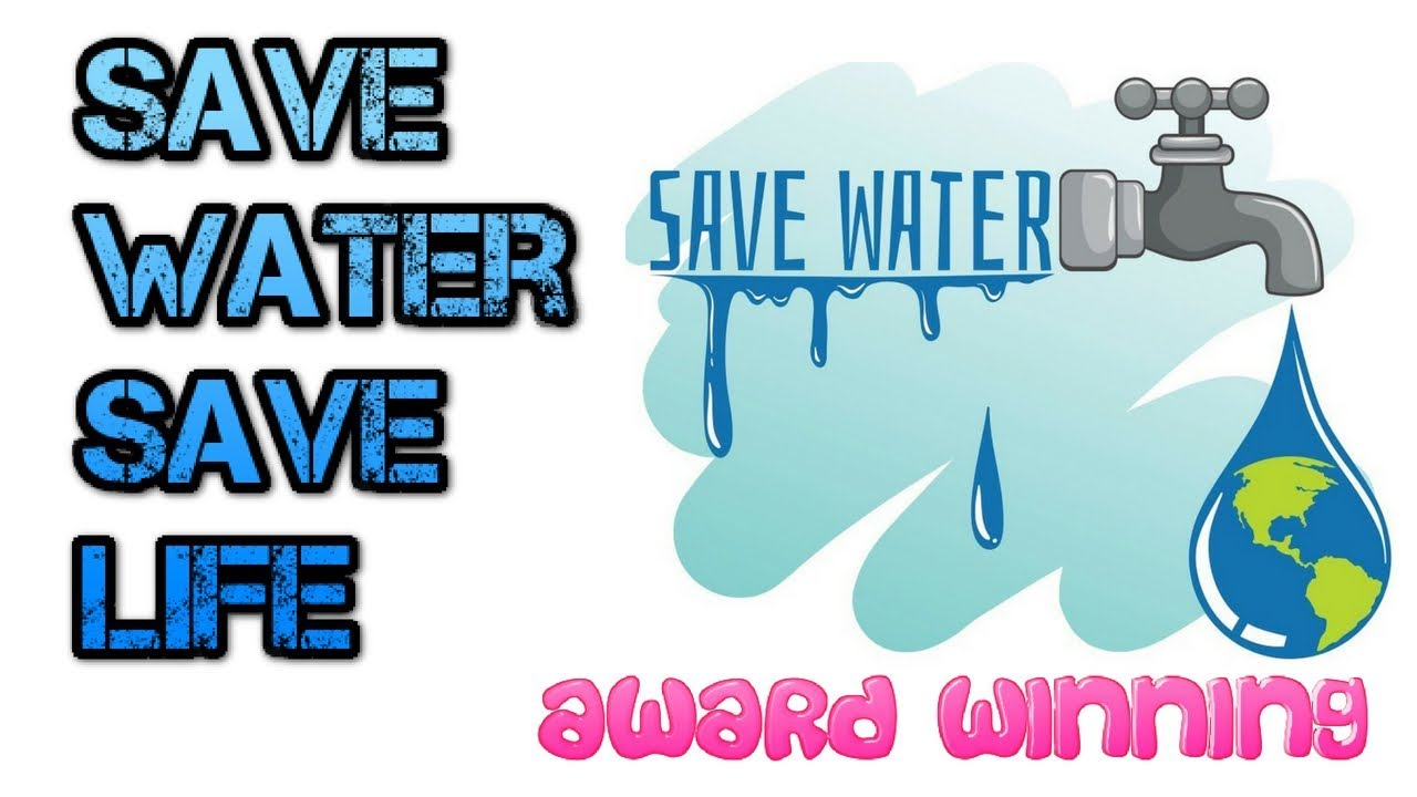how to draw save water save life