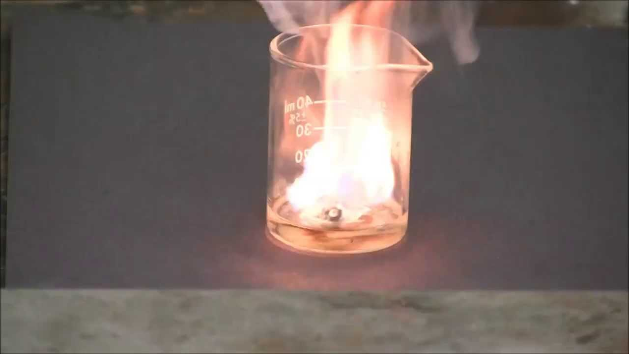 Potassium Metal Reacts With Concentrated Sulfuric Acid