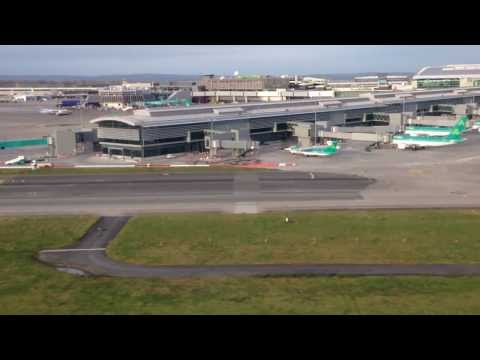 Landing at Dublin Airport, Ireland.