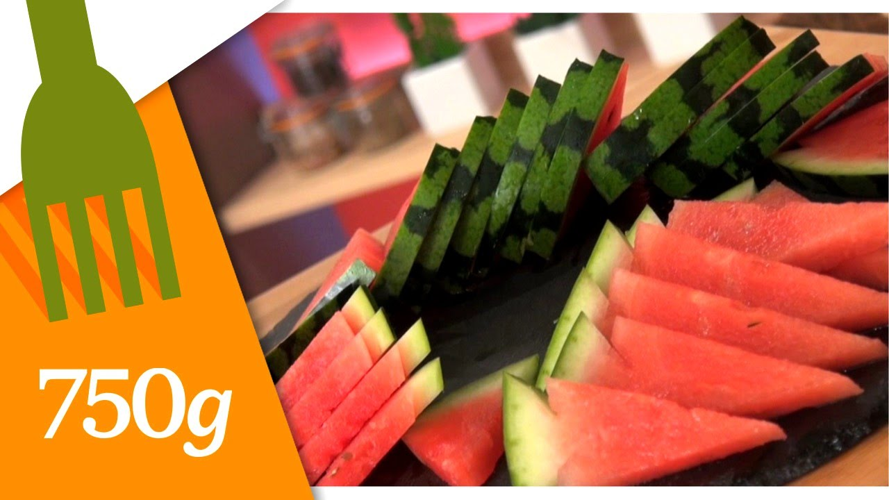 comment découper une pastèque - 750 grammes - youtube