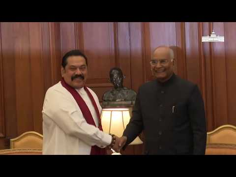 Prime Minister Mahinda Rajapaksa of Sri Lanka called on President Kovind at Rashtrapati Bhavan