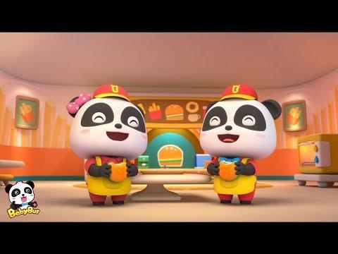 Burger Maker: Taste Yummy Burgers! |  Baby Panda Burger Maker | BabyBus Cooking Games