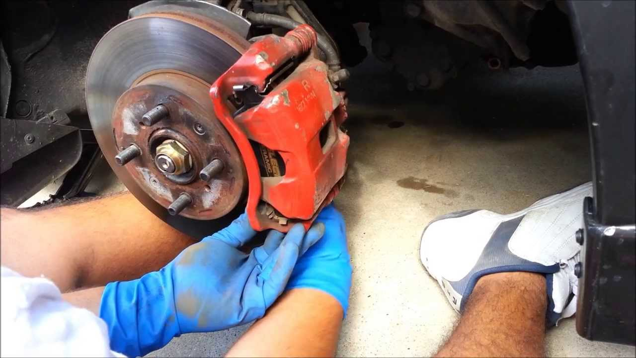 When To Replace Brake Pads >> 1992-1995 Honda Civic Front Brake Pad Replacement - YouTube