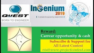 Quest ingenium 2019 I Contest based hiring
