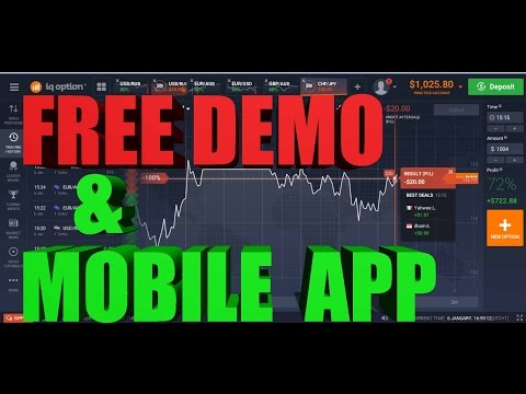 IQ Option FREE DEMO And Mobile APP Check It Out
