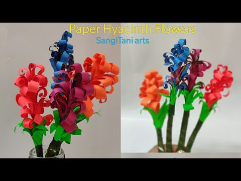 Easy Paper flowers for kids | Paper Hyacinth Flowers | easy craft for kids