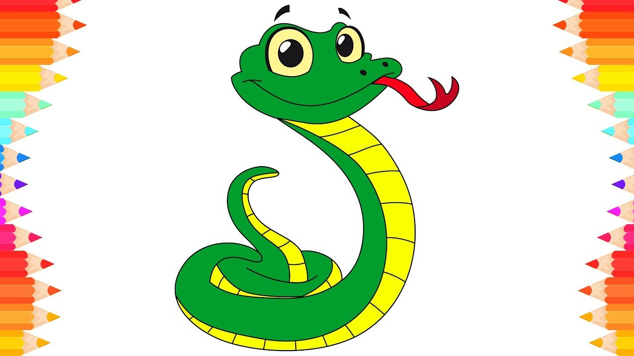 Snake cartoon pictures for kids