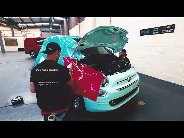 Veygo  Fiat 500 Full Colour Digitally Printed Full Wrap