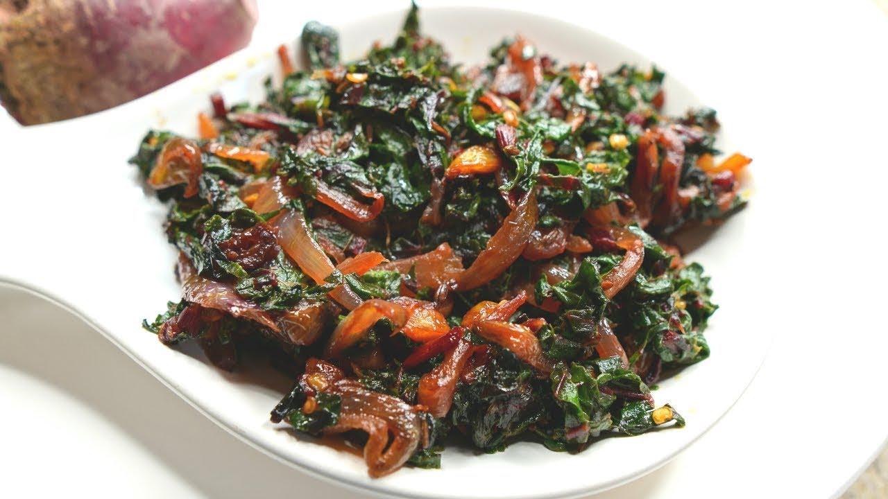 Beetroot Leaves Sabji Recipe | चुकंदर के पत्तो से बना पौष्टिक साग
