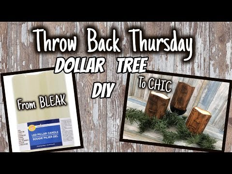 From Dollar Tree BLEAK to FARMHOUSE CHIC | QUICK and EASY Dollar Tree DIY