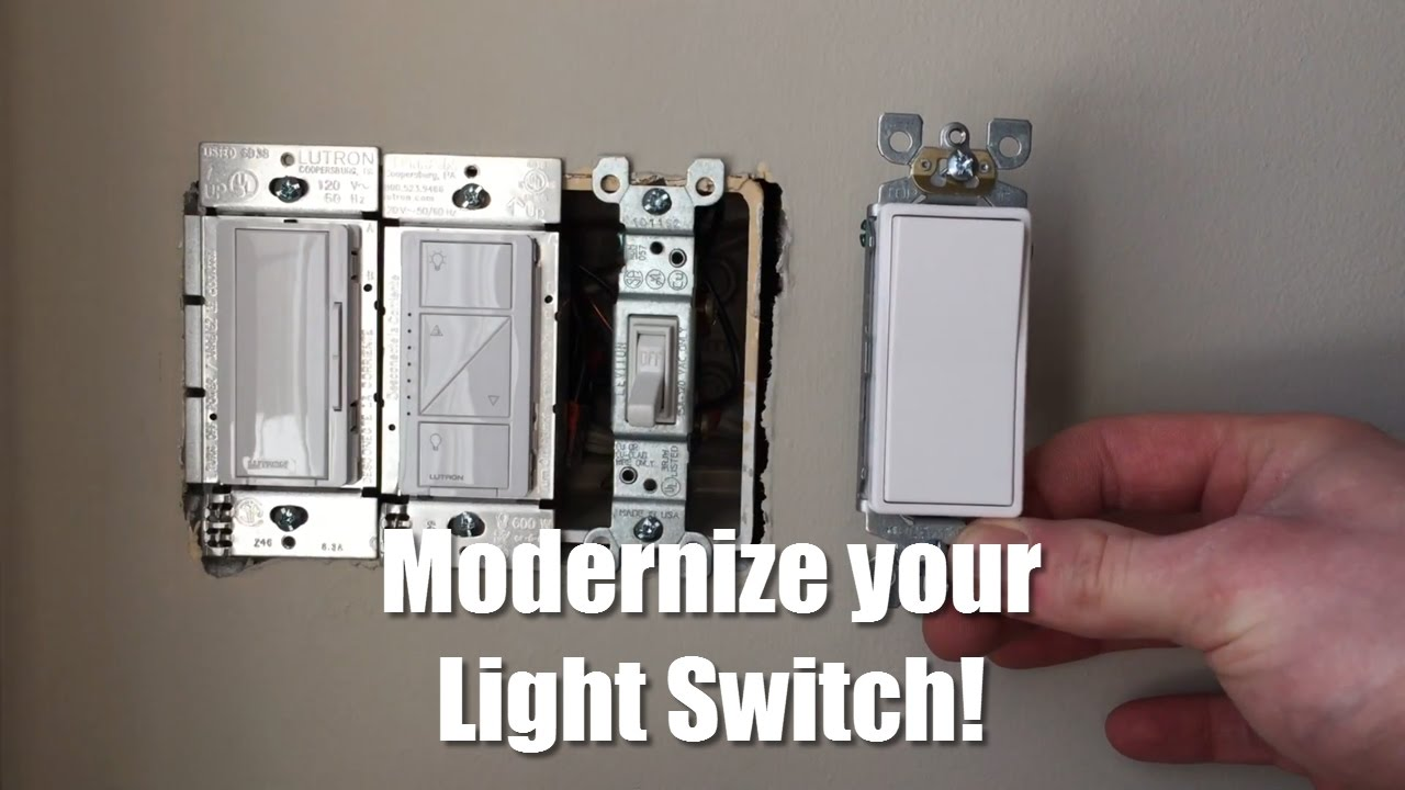 How To Replace And Update Your Light Switch Youtube Wire Threeway Switches Hometips
