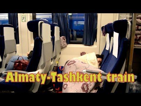 Ночь в сидячем вагоне поезда 001 Алматы-Ташкент