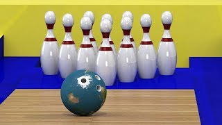 Play Bowling with balls like Planets | Planets in Order | Space Kid