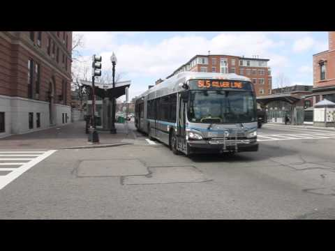 MBTA New Flyer XDE60 1279 on the SL5 Silver Line