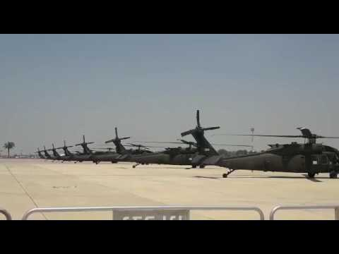 US choppers preparing to move as President Trump heads to Marine 1