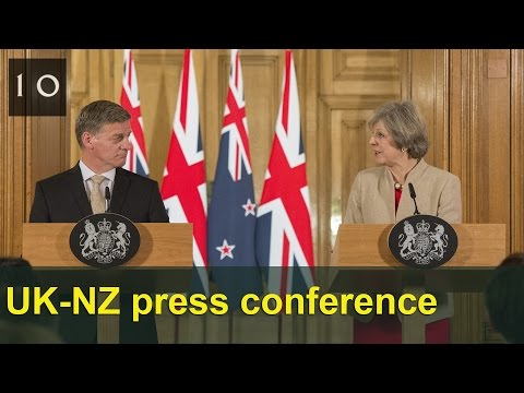 UK-New Zealand press conference: January 2017
