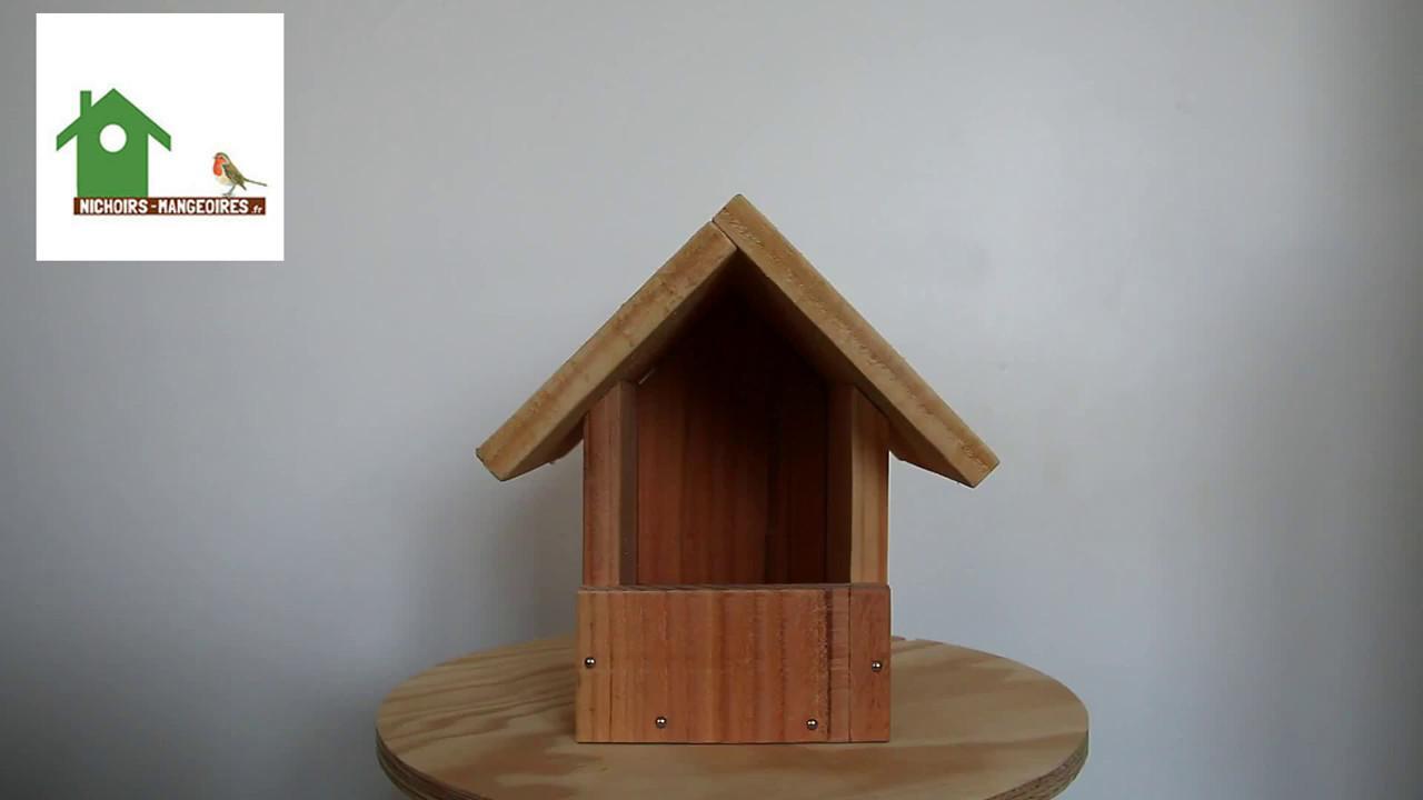 nichoir semi ouvert pour rouge gorges nichoirs oiseaux en bois fabrication francaise artisanale nichoirs mangeoires