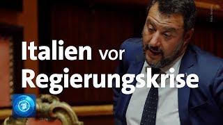 Regierungskrise Salvini lässt Koalition in Italien platzen