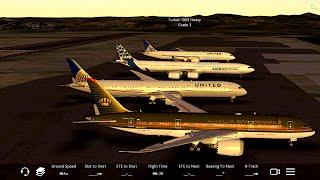 Infinite Flight Boeing 787-10. Multiplayer. Caribbean. TNCM- TFFR.Evening flight