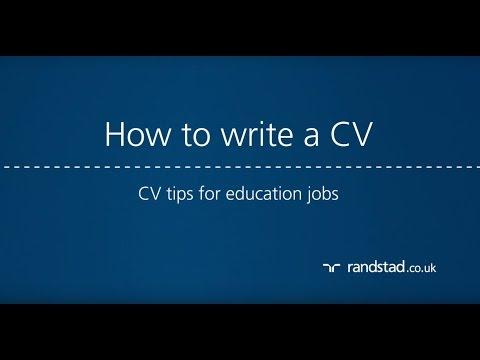 How to write a CV: CV tips for education jobs