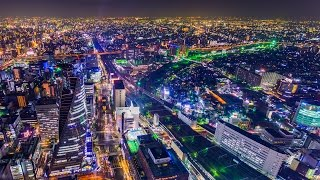 NAGOYA timelapse night 2015  4K(QFHD) resolution