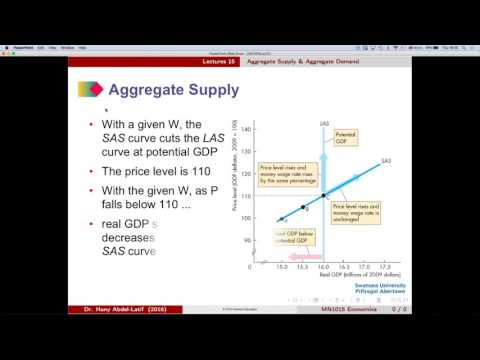 MN1015 Lecture 15 Part 1 Aggregate Supply & Aggregate Demand