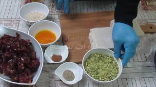 من حلويات رمضان المميزه واللذيذه حلى التمر بالبف باستري  puff pastry stuffed with dates