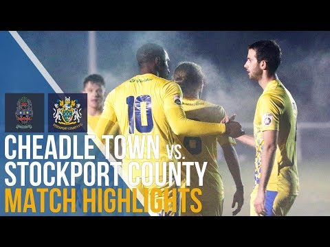Cheadle Town Vs Stockport County - Match Highlights - 01.11.17 - Cheshire Cup