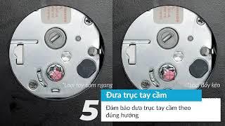 Hướng dẫn lắp đặt khóa cửa Samsung SHP DP609