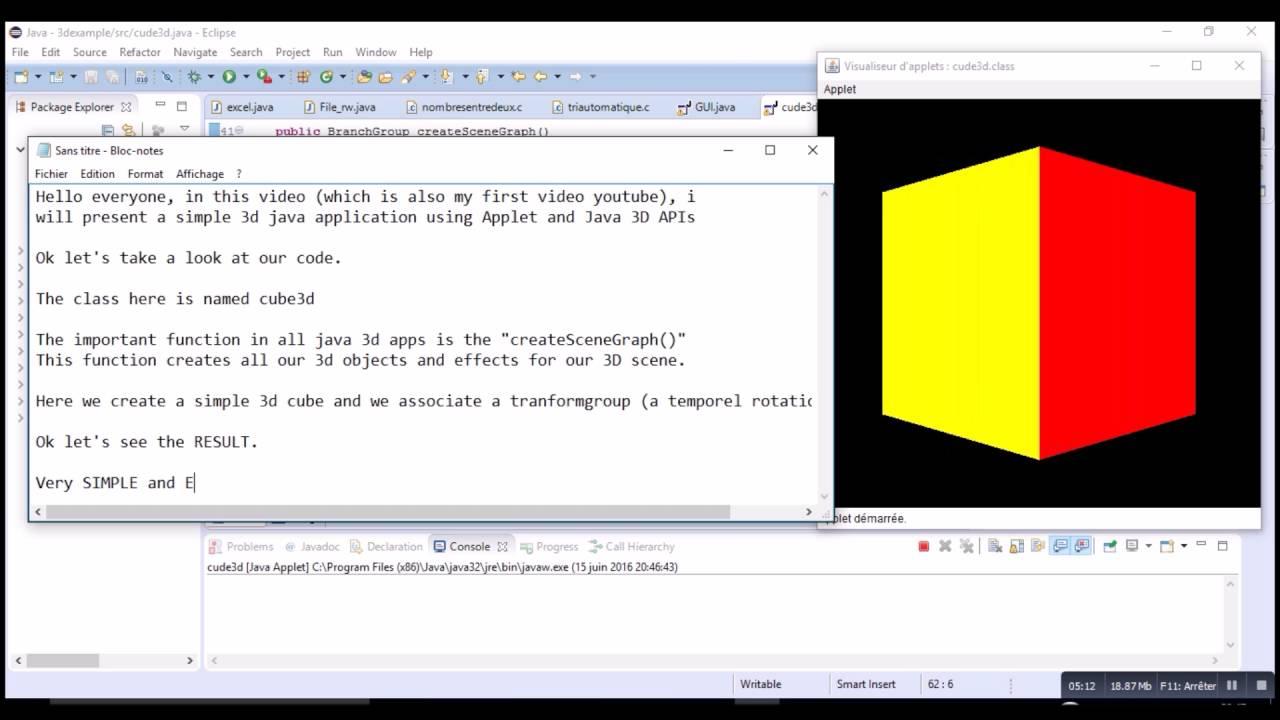 Java 8 programming tutorial: applets and basics graphics.