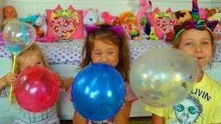 Дети играют с воздушными шарами! Развивающее видео для детей