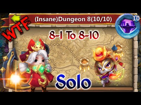Commodora | Solo😲😲 | Insane Dungeon 8-1 To 8-10 | Insane 😎😎 | Castle Clash