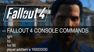 Fallout 4 ► CONSOLE COMMANDS! (Tutorial)