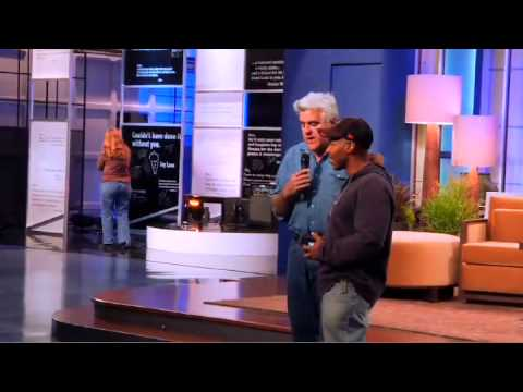 Jay Leno good bye to kevin eurbanks before the show (in sync)