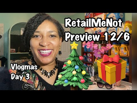 RetailMeNot insert Preview 12/6/20 VLOGMAS 2020 Coupon Preview B1G1 FREE COUPONS