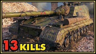 Object 268 Version 4 - 13 Kills - 1 vs 6 - World of Tanks Gameplay