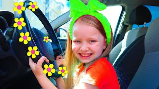 The We are in the Car Wheels On The Bus Song Nursery Rhymes & Kids Songs | Milli and family