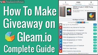 How To Make a Giveaway on Gleam.io | Complete Guide in Hindi/Urdu