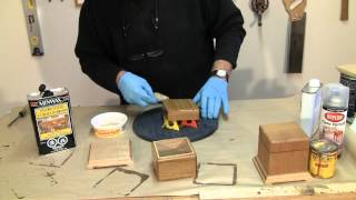 Finishing A One Piece Box - A Woodworkweb.com Woodworking Video