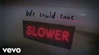 Tate McRae - slower (Lyric Video)