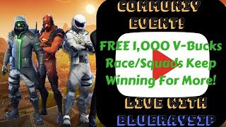 FREE 1,000 V-Bucks Race/ Fortnite/Road to 2K TEAM CLUTCH MEMBERS #LEGO