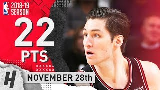 Ryan Arcidiacono Full Highlights Bulls vs Bucks 2018.11.28 - 22 Pts, 4 Ast, 5 Rebounds!