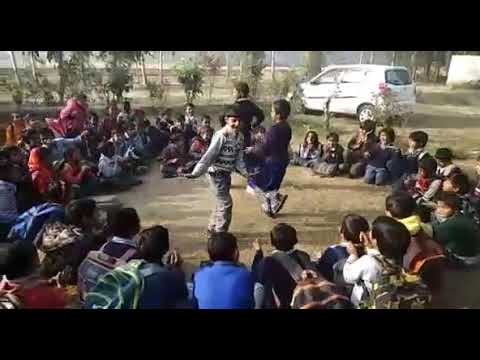Indian teacher learn maths table in dancing style