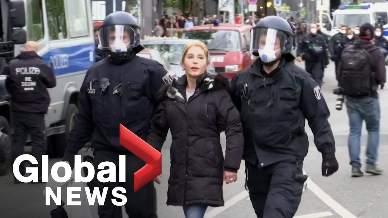 Coronavirus outbreak: Police confront COVID-19 lockdown protesters in Berlin