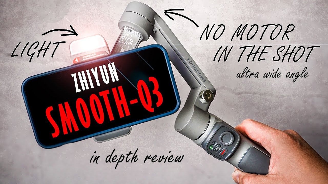 First Smartphone Gimbal of 2021. ZHIYUN SMOOTH Q3 with Android & iPhone in  depth review. - YouTube
