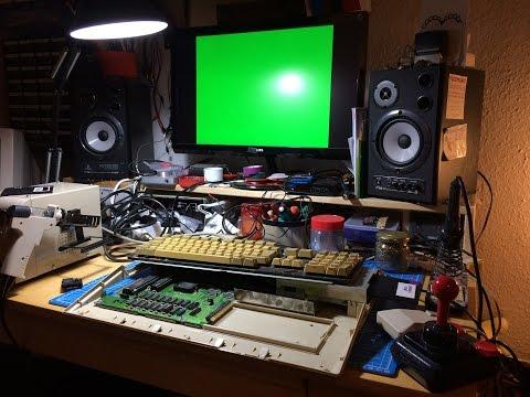 Amiga 500 Strange Green Screen Repair